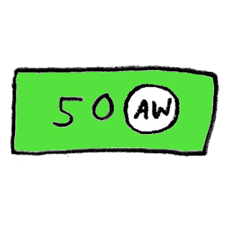 AW kinkekaart 50€