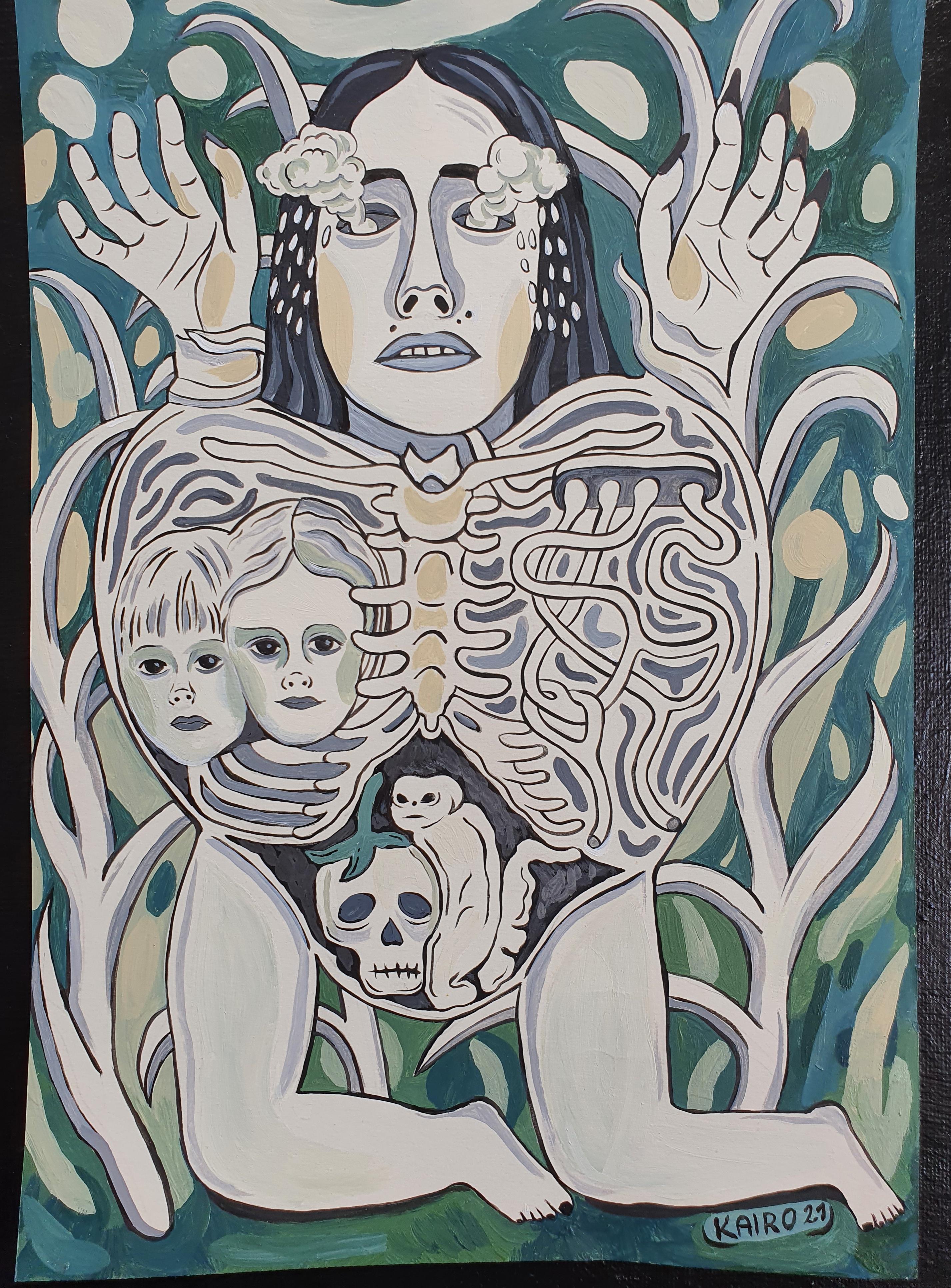 Ema kahe näituse vahel (Kairo)