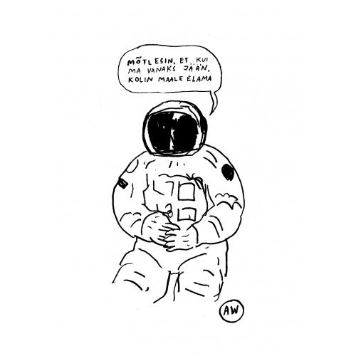 """Originaaljoonistus """"Kosmonaut"""""""