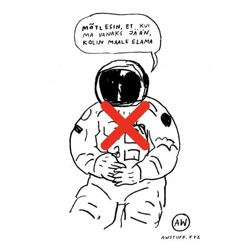 "Kapuutsiga pusa ""Kosmonaut"""