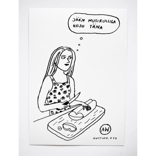 """Postkaart """"Musirull"""""""